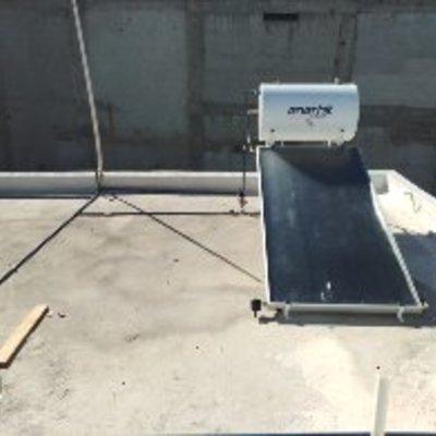 Calentador solar de panel