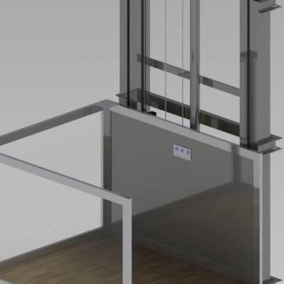 elevador media cabina montaje rapido