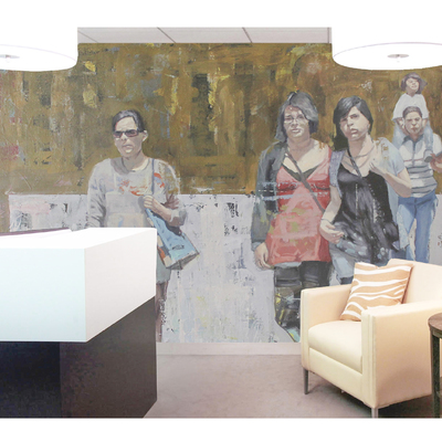 Murales decorativos para oficinas