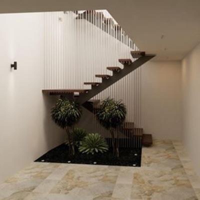 Escalera en patio interior