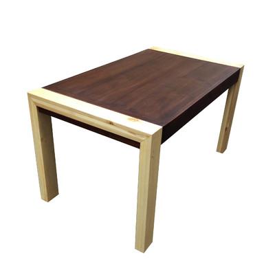 Mesa de comedor en madera maciza de tzalam y poplar