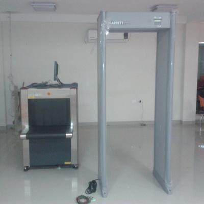 Instalacion de Arcos detector de metal y maquinas de RX