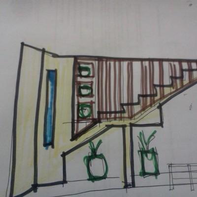 Boceto escalera ev