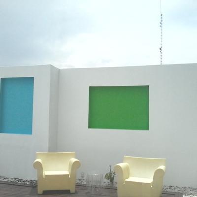 Muro decorativo terminado