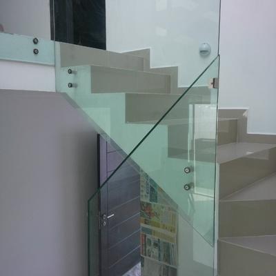 barandal en cristal templado de 9mm