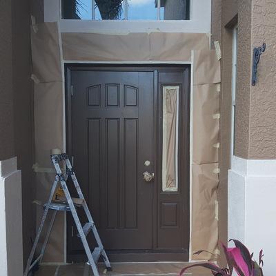 Puerta pintada en estados unidos