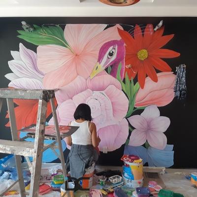 Diseño de mural para boutique