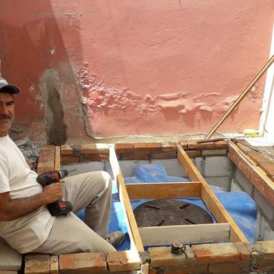 Instalación de cisterna 1200 L.