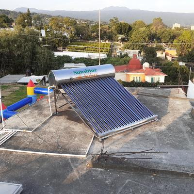 Instalación de Calentador Solar 20 tbos