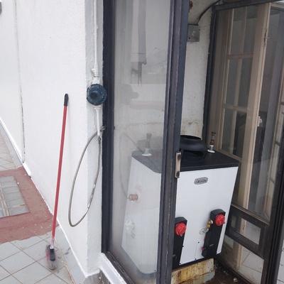 colocación de boiler nuevo