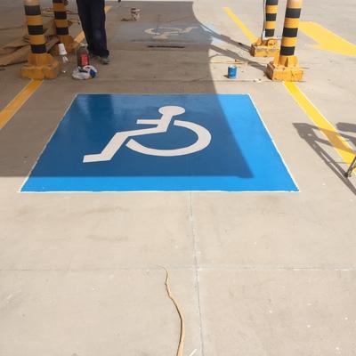 Pintura en estacionamiento