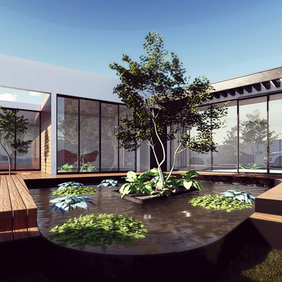 Planta Casa GM | Espejo de agua