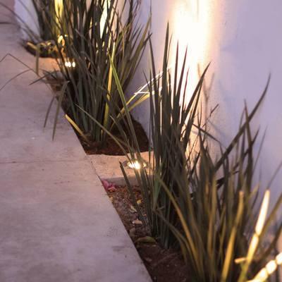 Fachada de Residencia en Colonia Bugambilias con Iluminación.