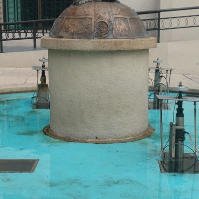 Fuente de edificio de la Lotería Nacional