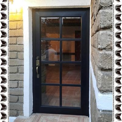 """Puerta de Aluminio Negro 3"""""""
