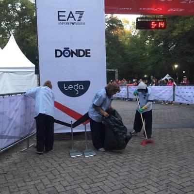 Limpieza evento exterior