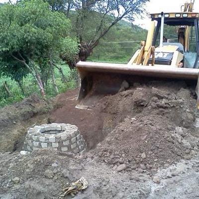 Construcción de alcantarillado sanitario