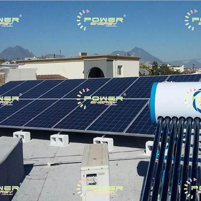 HogarVerde Paneles Solares 4kWh  Calentador Solar 265lts