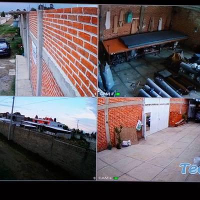 Instalación de 4 cámaras de seguridad