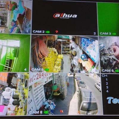 Instalación de 8 cámaras de seguridad