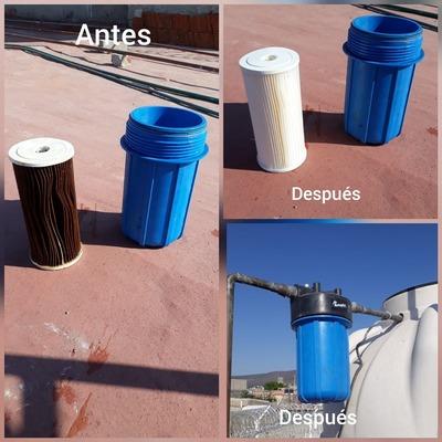 cambio de filtro de agua