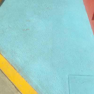 rampa sin pintura
