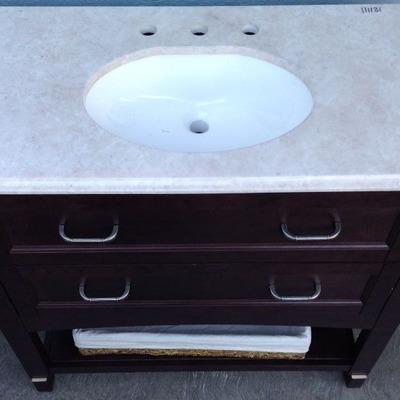 Mueble de baño con acabado en Marmol