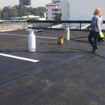 Preparacion para la colocación con antorchas de gas del material.