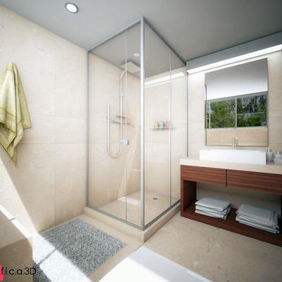 Baño - Diseño de interiores e infografía
