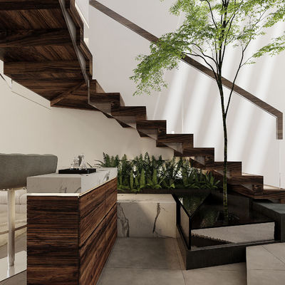 Bar y escaleras de lujo