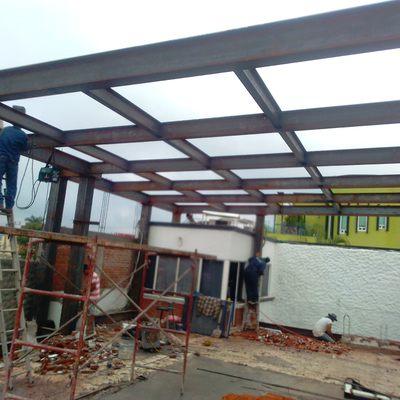 Estructura para el techado en fracc Burgos