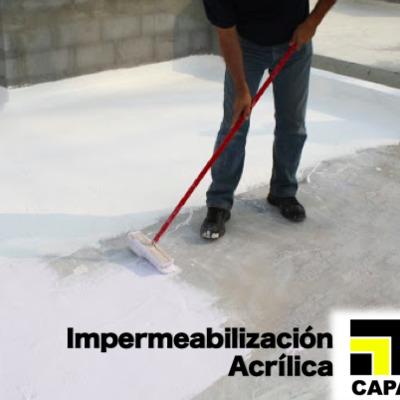 Aplicación de impermeabilizante acrílico