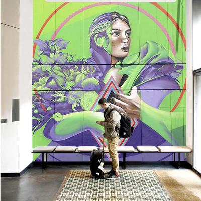 Murales en estancias comerciales y residenciales