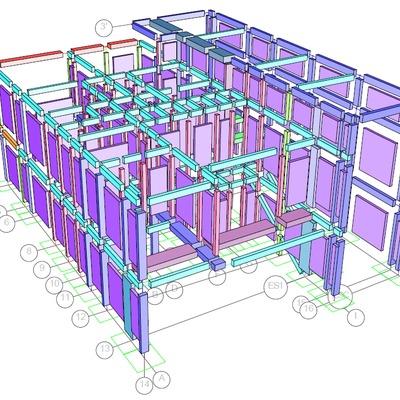 Modelo estructural casa habitación