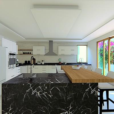 Diseño de Cocina moderna casa Tancitaro