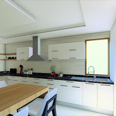 Diseño de Cocina moderna casa Tancitaro  3