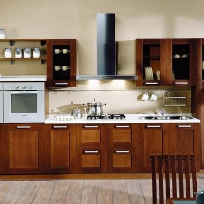 cocina en madera color natural