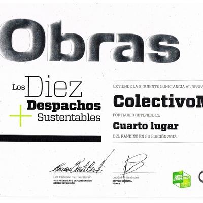 ColectivoMX es el 4° despacho de arquitectura más sustentable del ranking Diez Despachos 2013