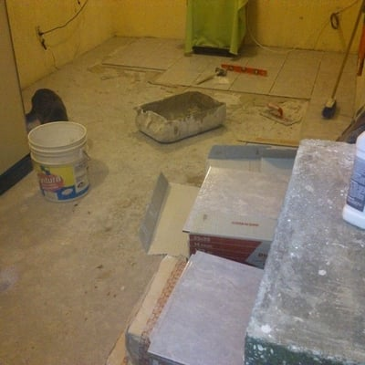 Colocacion de piso de lozeta