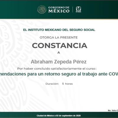 Constancia Covid-19