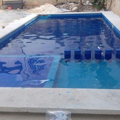 LLenado de Alberca en Zona Residencial de Cancún