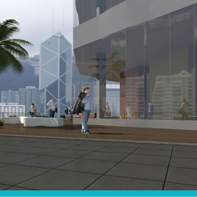 Proyecto Corporativo | Fachada Exterior 01 | Plaza