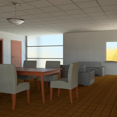 Sala comedor de departamento