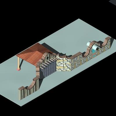 diseño de accesos y barda perimetral