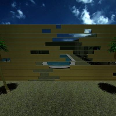 diseño y construccion de muro en jardin