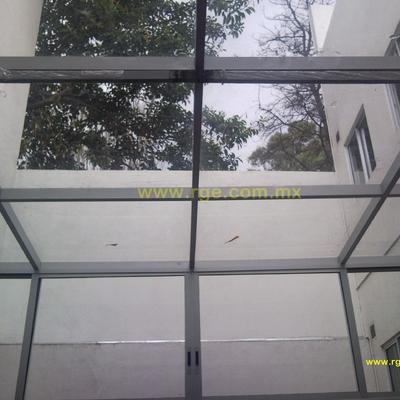 Domo de cristal templado y Aluminio Natural