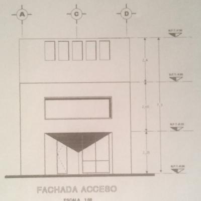 Fachada Acceso Casa Rodriguez Reynoso
