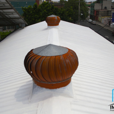 Impermeabilizacion tradicional blanco fresco, aislante termico.