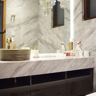 Mueble de baño en alto brillo y ultra mate