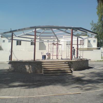 Construcción del Kiosco